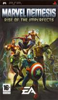 Marvel Nemesis: Rise of the Imperfects PSP Front Cover