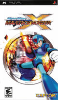 Mega Man Maverick Hunter X PSP Front Cover