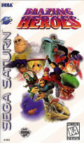 Blazing Heroes SEGA Saturn Front Cover