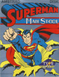 Superman: The Man of Steel Amstrad CPC Front Cover