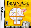 Brain Age: Train Your Brain in Minutes a Day! Nintendo DS Front Cover