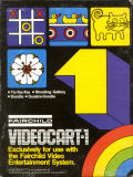 Videocart-1: Tic-Tac-Toe, Shooting Gallery, Doodle, Quadra-Doodle Channel F Front Cover
