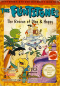 The Flintstones: The Rescue of Dino & Hoppy NES Front Cover
