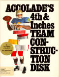 4th & Inches Team Construction Disk Amiga Front Cover