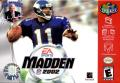 Madden NFL 2002 Nintendo 64 Front Cover