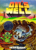 Oil's Well Atari 8-bit Front Cover