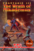 Phantasie III: The Wrath of Nikademus Commodore 64 Front Cover