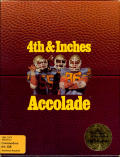 4th & Inches Commodore 64 Front Cover