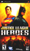 Justice League Heroes PSP Front Cover
