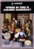 Where in Time Is Carmen Sandiego? NES Front Cover