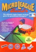 MicroLeague Baseball Atari 8-bit Front Cover