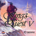 King's Quest V: Absence Makes the Heart Go Yonder! DOS Front Cover