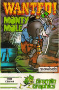 Wanted!: Monty Mole Commodore 64 Front Cover
