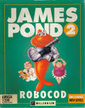 James Pond 2: Codename: RoboCod Amiga Front Cover