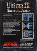 Ultima IV: Quest of the Avatar DOS Back Cover