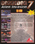 Corridor 7: Alien Invasion DOS Back Cover