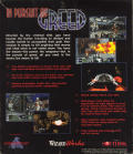 In Pursuit of Greed DOS Back Cover