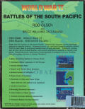 World War II: Battles of the South Pacific DOS Back Cover