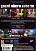 Grand Theft Auto III PlayStation 2 Back Cover