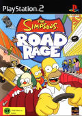 The Simpsons: Road Rage PlayStation 2 Front Cover