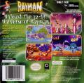 Rayman Game Boy Advance Back Cover