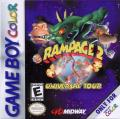 Rampage 2: Universal Tour Game Boy Color Front Cover