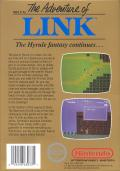 Zelda II: The Adventure of Link NES Back Cover