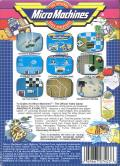 Micro Machines NES Back Cover