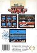 Operation Wolf NES Back Cover