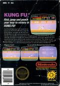 Kung-Fu Master NES Back Cover