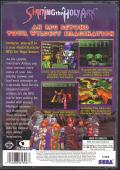 Shining the Holy Ark SEGA Saturn Back Cover