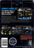 Donkey Kong Junior NES Back Cover