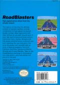 RoadBlasters NES Back Cover