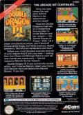Double Dragon III: The Sacred Stones NES Back Cover