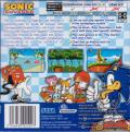 Sonic Advance Game Boy Advance Back Cover