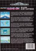 Super Hang-On Genesis Back Cover