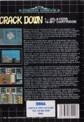 Crack Down Genesis Back Cover