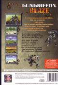 Gungriffon Blaze PlayStation 2 Back Cover