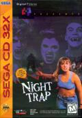 Night Trap SEGA 32X Front Cover Sega CD 32X