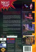 Night Trap SEGA 32X Back Cover Sega CD 32X