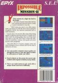 Impossible Mission II NES Back Cover