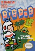 Dig Dug II: Trouble in Paradise NES Front Cover