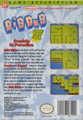 Dig Dug II: Trouble in Paradise NES Back Cover