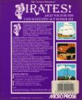 Sid Meier's Pirates! Atari ST Back Cover