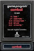 Combat Atari 2600 Media Matte finish label