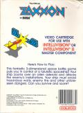 Zaxxon Intellivision Back Cover