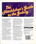 The Hitchhiker's Guide to the Galaxy Commodore 64 Back Cover