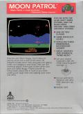 Moon Patrol Atari 2600 Back Cover