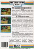 Annals of Rome Commodore 64 Back Cover