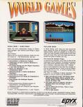 World Games Commodore 64 Back Cover
